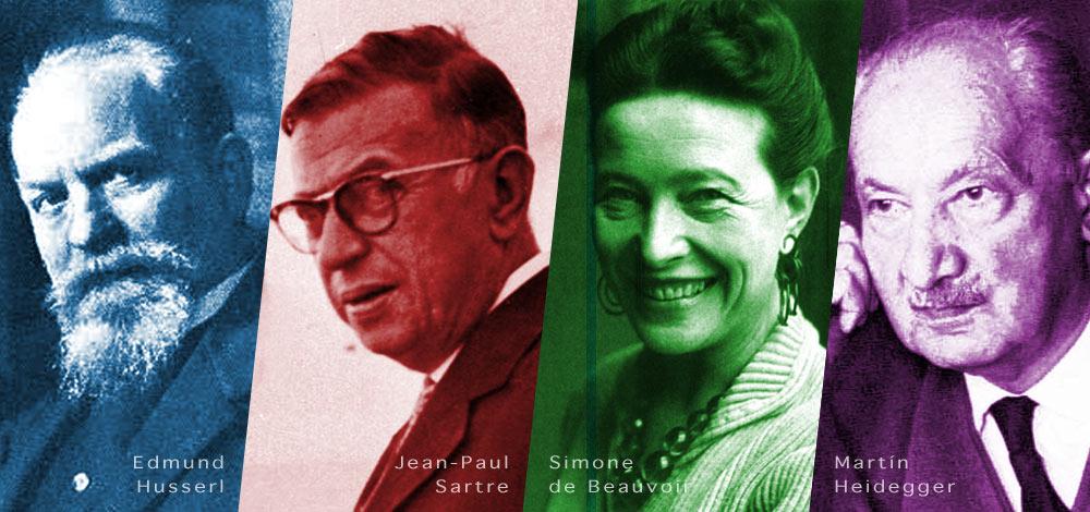 Husserl, Sartre, Beauvoir e Heidegger